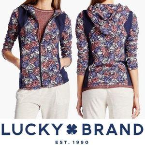 Lucky Brand Lucky Lotus Rose Garden Hoodie Small